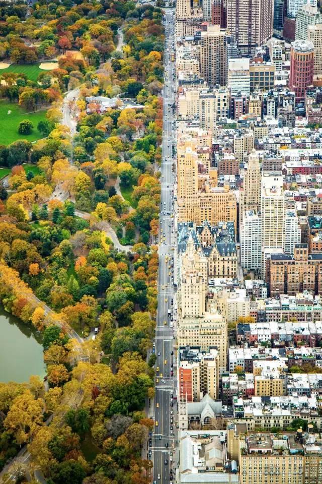 从高空看纽约中央公园,才知道美国规划多有远见!