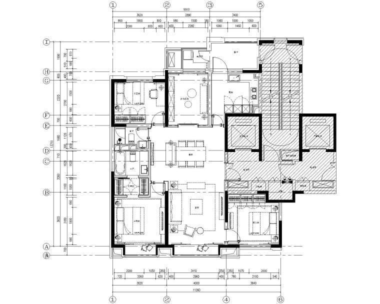 北京万科翡翠长安140户型样板间丨设计方案两版+施工图+物料书