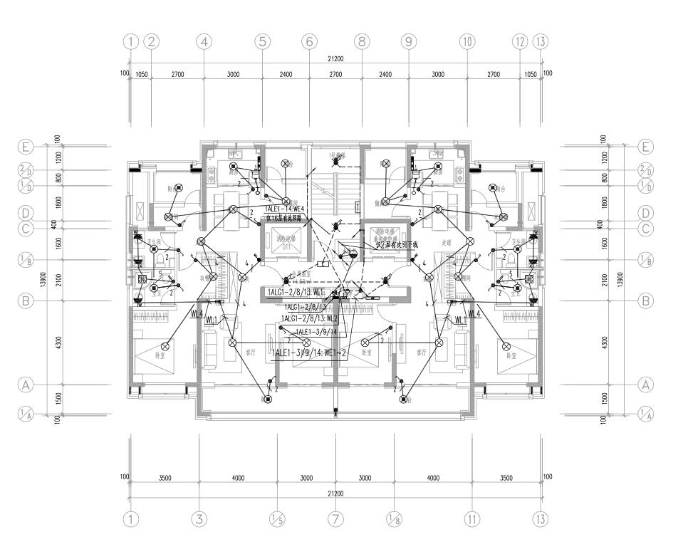 西安特大型住宅组团及配套建筑电气施工图