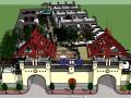 [安徽]徽派风格度假村建筑模型设计