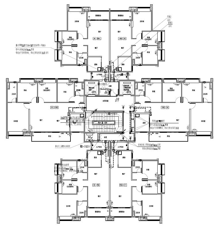 广东佛山商业住宅及配套基建电气施工图