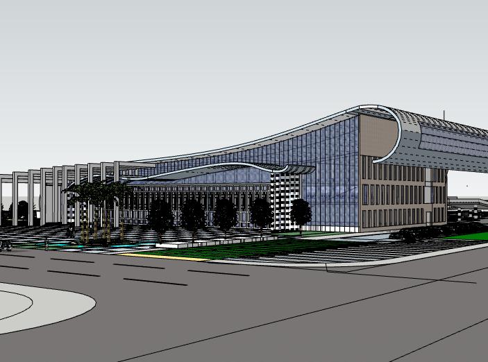 汽车客运站建筑模型设计
