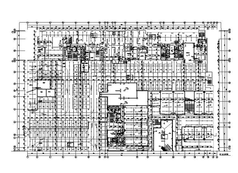 地下一层二区自喷平面图