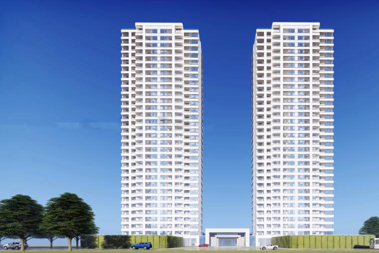 [浙江]杭州融信保利·创世纪入口大堂&下沉庭院+现代高层豪宅模型设计