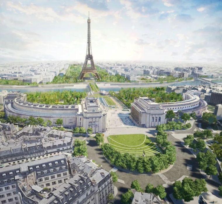 发布|2024年巴黎奥运会埃菲尔铁塔公园方案亮相