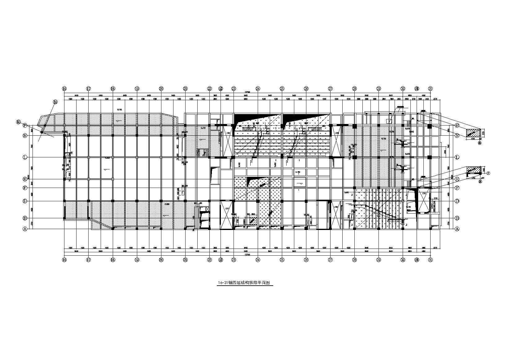 三里屯通盈中心商業&建筑框剪結構改造施工圖