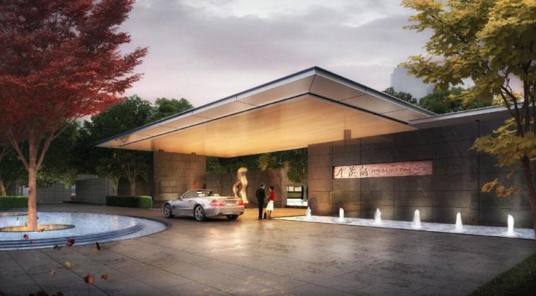 大宁金茂府示范区建筑模型设计(新中式风格)