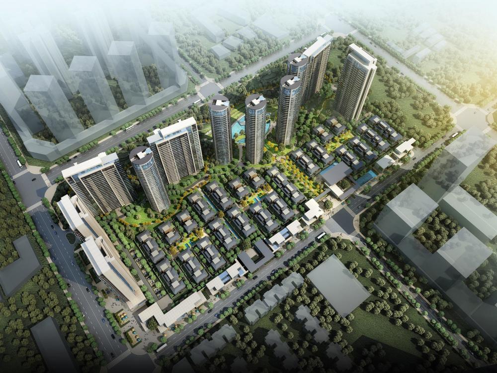 [四川]朗诗成都大源居住区项目投标建筑模型设计(天华)