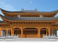 大雄宝殿古建筑模型设计(中式风格)
