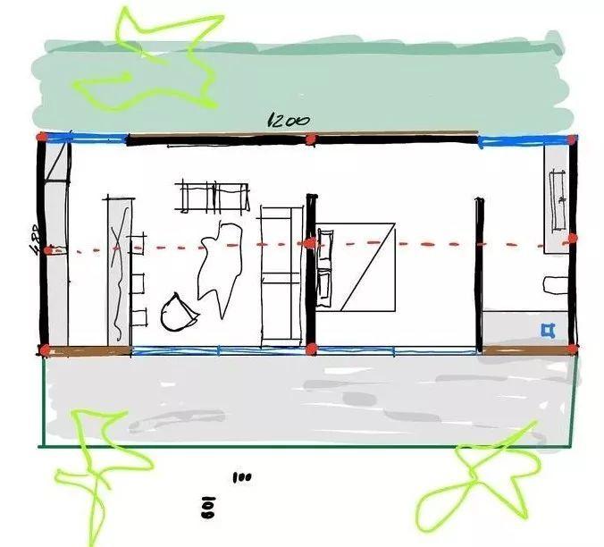 2个集装箱拼成一室一厅,60㎡的极简白实在太美了!_3