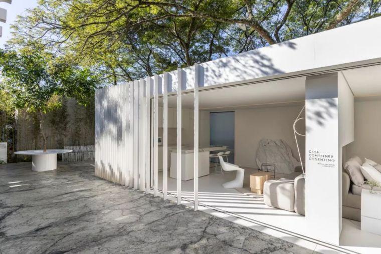 2个集装箱拼成一室一厅,60㎡的极简白实在太美了!_2