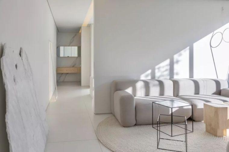 2个集装箱拼成一室一厅,60㎡的极简白实在太美了!_10