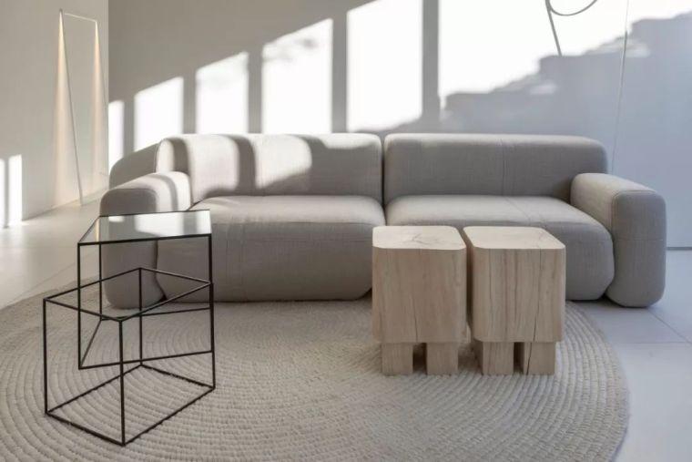 2个集装箱拼成一室一厅,60㎡的极简白实在太美了!_11