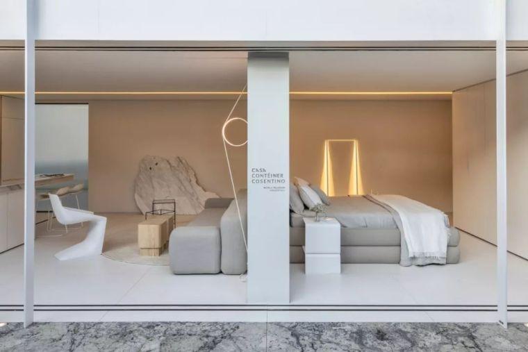 2个集装箱拼成一室一厅,60㎡的极简白实在太美了!_8
