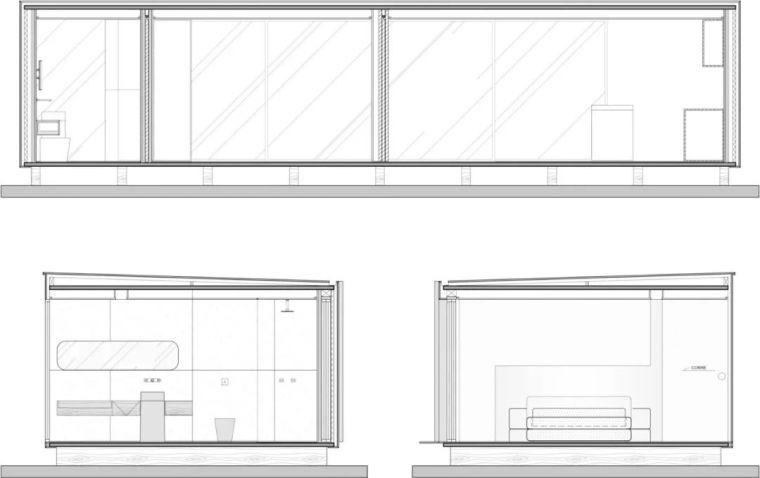 2个集装箱拼成一室一厅,60㎡的极简白实在太美了!_7