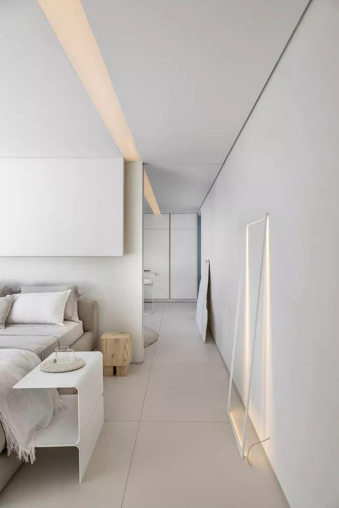 2个集装箱拼成一室一厅,60㎡的极简白实在太美了!_18