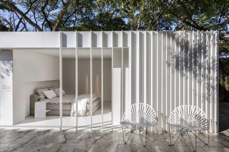 2个集装箱拼成一室一厅,60㎡的极简白实在太美了!_27