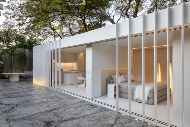 2个集装箱拼成一室一厅,60㎡的极简白实在太美了!_32