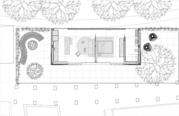 2个集装箱拼成一室一厅,60㎡的极简白实在太美了!_31