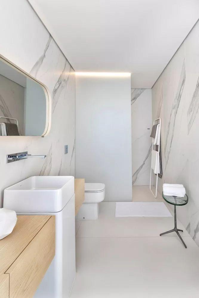 2个集装箱拼成一室一厅,60㎡的极简白实在太美了!_26
