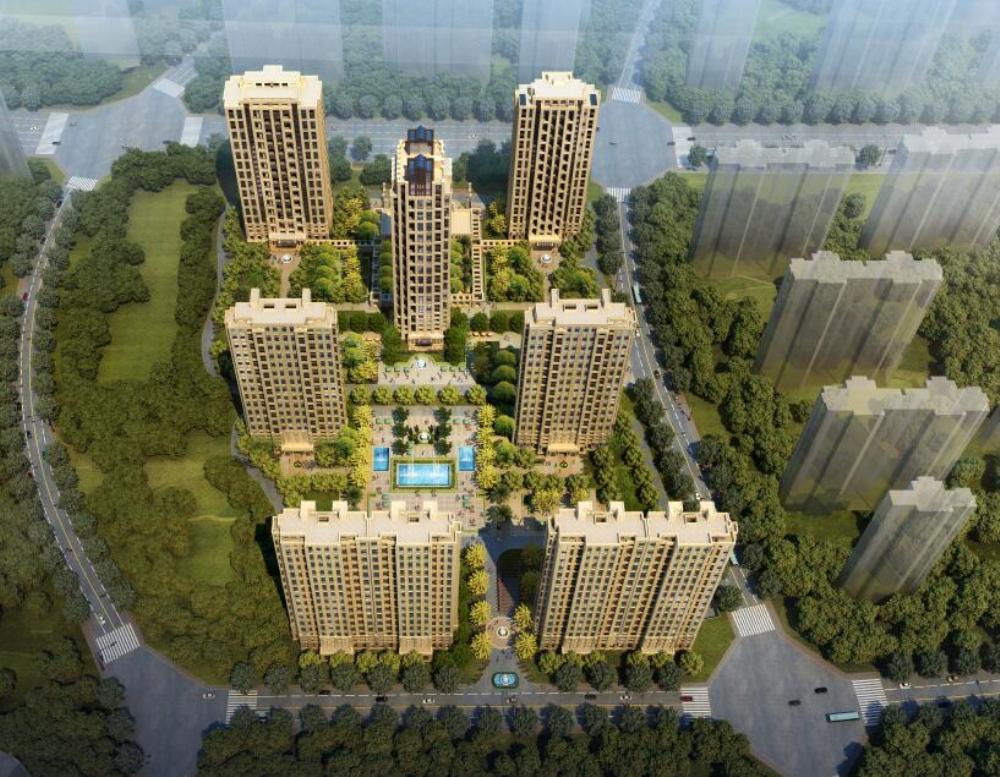 [江西]南昌新力洲悦(北区)?新古典小区建筑模型设计(高层+会所)