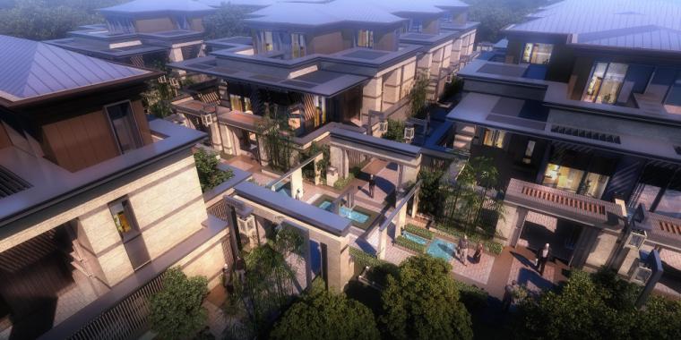 [上海]信达·泰禾新江湾投标建筑模型设计(新中式风格)