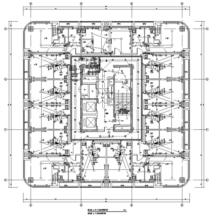 山西临汾大型商业广场全套施工图(办公、酒店、商业、公寓)