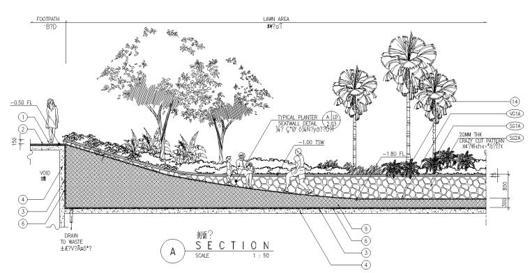 27套景观竖向设计大详图(CAD竖向设计,广场景观平面图)