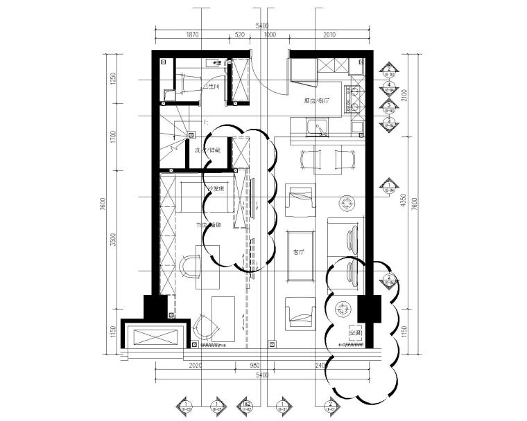 [北京]万科天地LOFT风格样板间深化设计方案+效果图+CAD全套施工图丨PDF+JPG