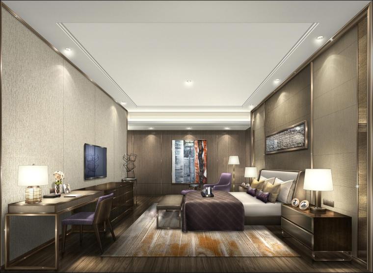 [广东]梁志天-广州海珠半岛花园三期交楼标准三居室样板房丨深化设计方案+效果图