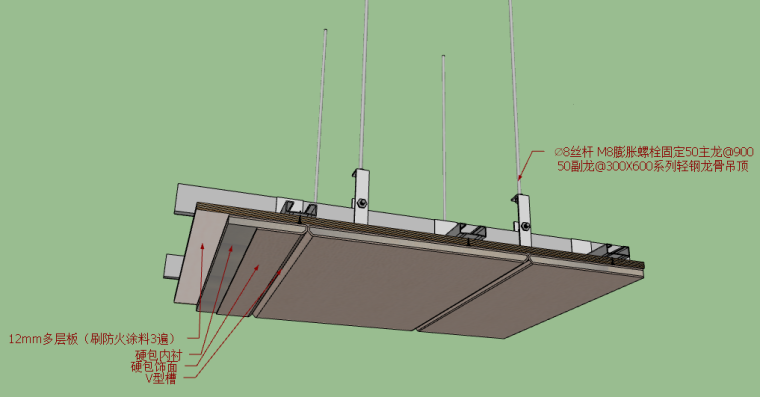 金螳螂施工节点对应sketchup模型-顶面C1-C19
