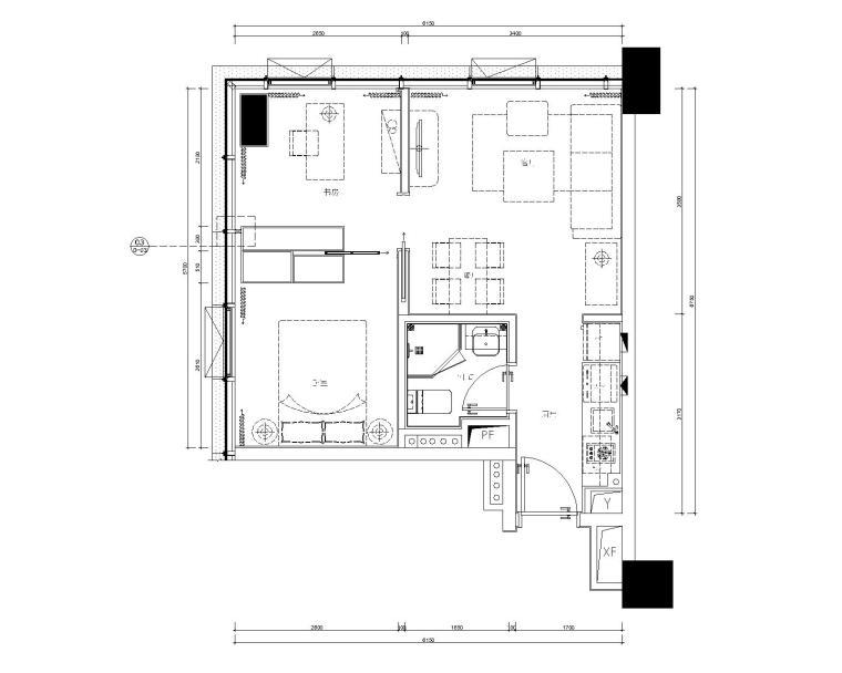 一期五套不同风格公寓样板间丨cad全套施工图+室内设计方案+软装方案图片