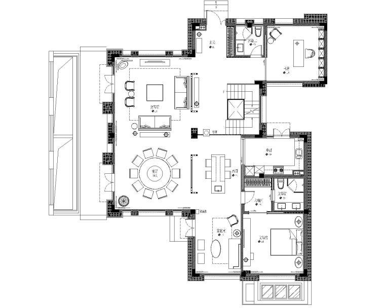 [上海]凌子达-中信泰富青浦朱家角別墅样板房丨概念方案PPT+效果图+CAD施工图+考察实景