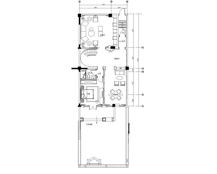 欧式新古典-华轩诚园售楼处&四居室别墅样板房设计方案+效果图+施工图+高清实景