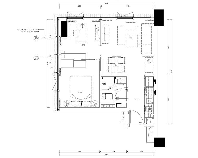 [广东]横琴万象世界一期精装修公寓样板房6套丨施工图+设计方案+效果图