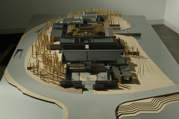 万科棠樾居住区会所建筑模型设计(中式风格)
