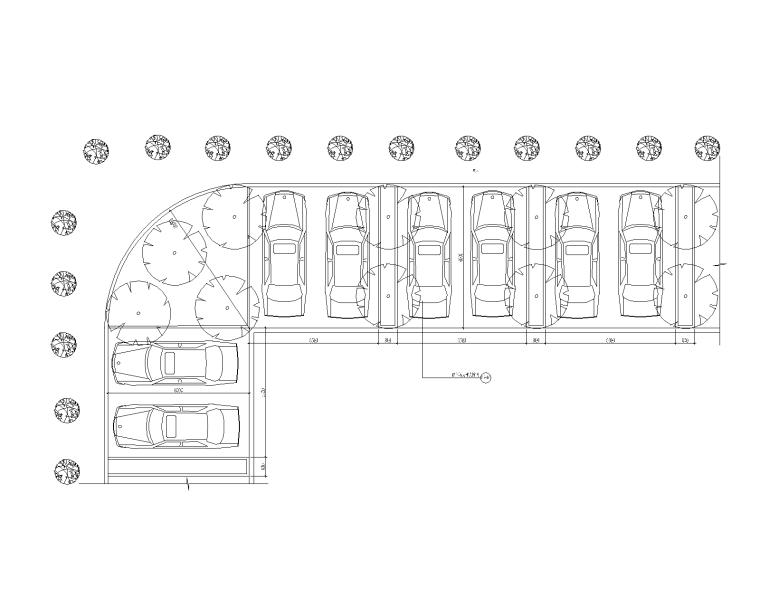 10套生态景观停车场地CAD大详图