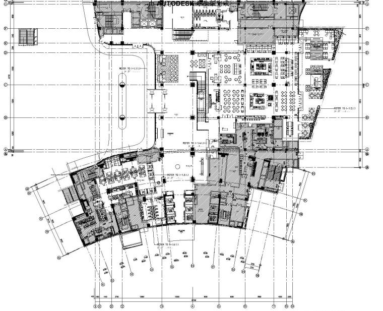 [福建]厦门五缘湾凯悦酒店丨室内装修CAD施工图+效果图+实景
