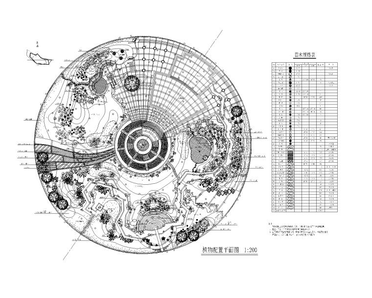 景观绿化配置CAD平面图