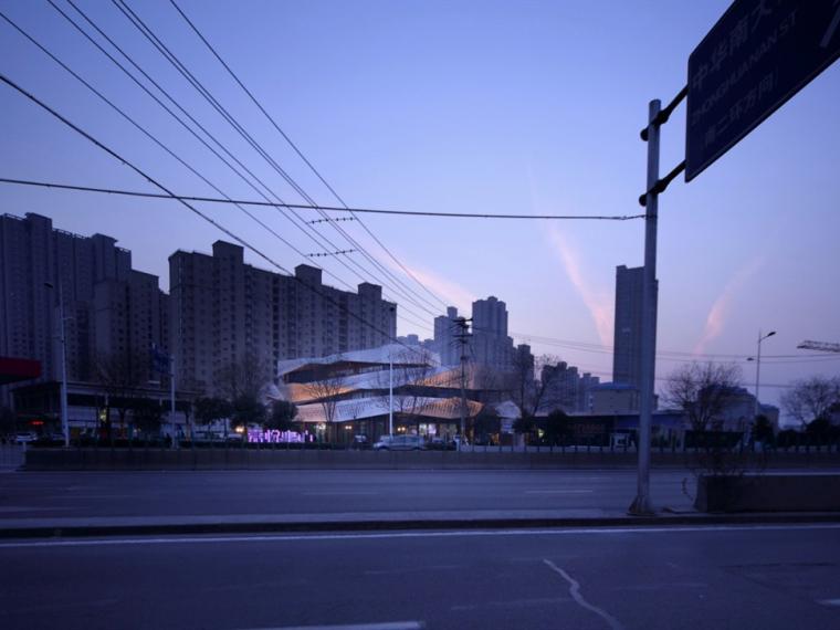 中环广场售楼处建筑立面改造
