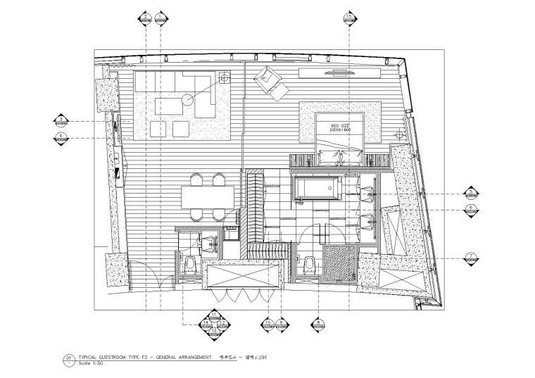 [北京]Benoy贝诺-北京东隅酒店设计方案+施工图(客房及电梯厅)+摄影实景图