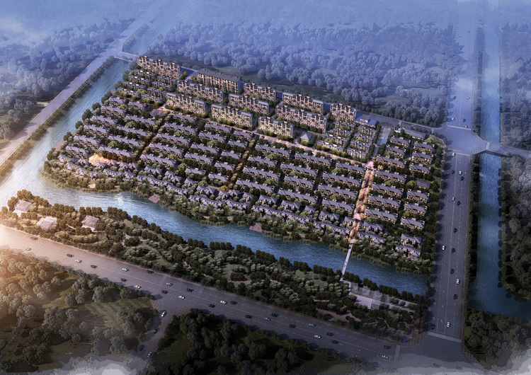 上海院子·雅院居住区建筑设计(新中式风格)