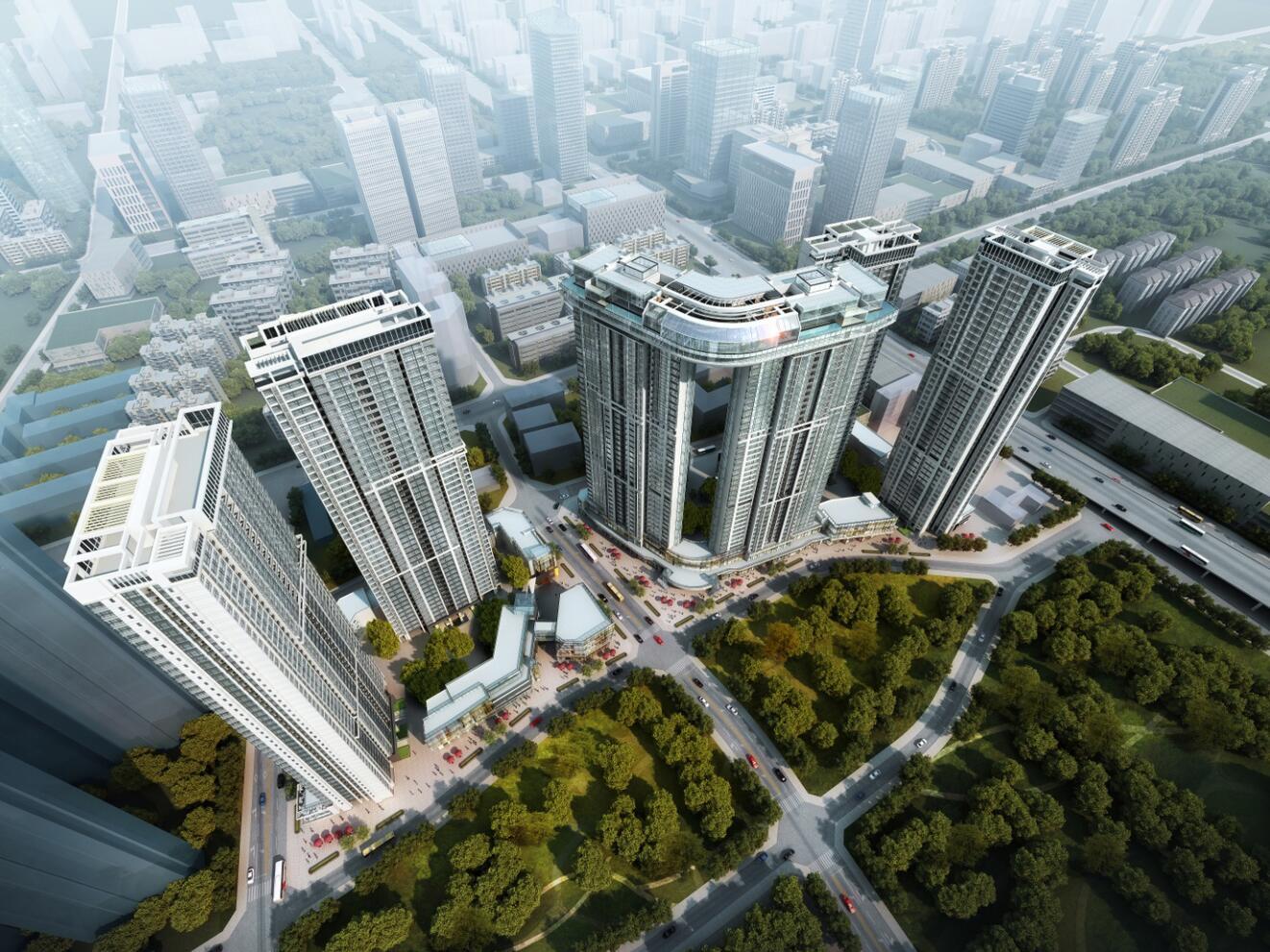 [四川]绿地GIC成都中央广场建筑模型设计(2018年)