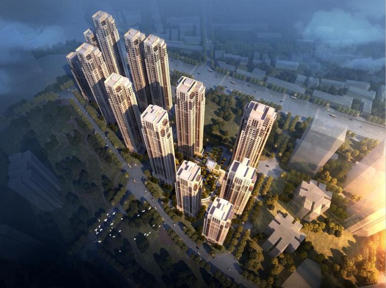 [云南]昆明华润新古典大都会高层建筑模型设计