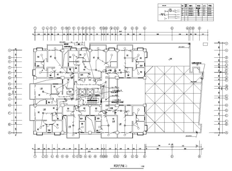 四川二类高层商住楼电气设计图纸