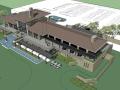 草原风风格高尔夫会所建筑模型设计