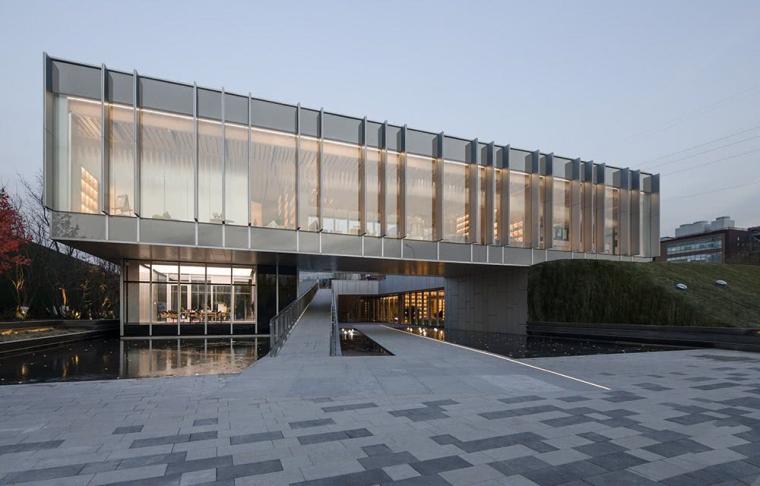 [北京]万科翡翠书院天空图书馆示范区建筑模型设计上海日清