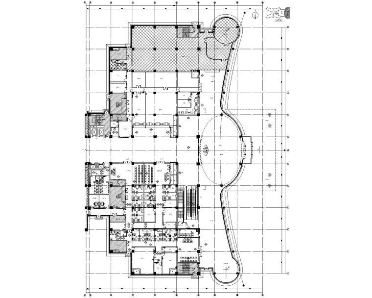 [河北]石家庄第四医院新院区室内装修CAD施工图纸+效果图