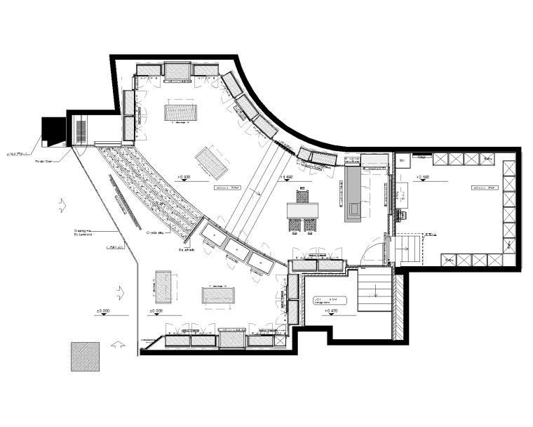 [上海]SWK上海施华洛世奇美罗城店室内装修CAD施工图+效果图