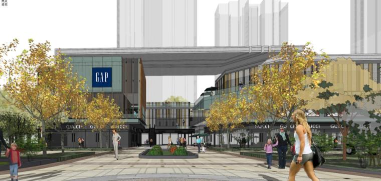 康桥·那云溪北侧商业街建筑模型设计